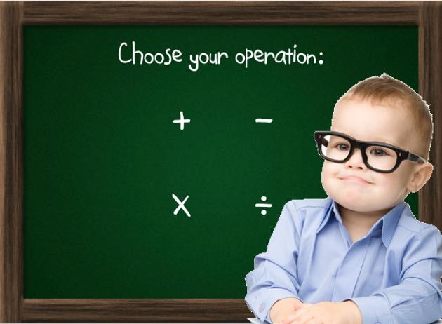 Πρόσθεση, αφαίρεση, πολλαπλασιασμός, διαίρεση - παιχνίδι